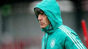 Bundestrainer Joachim Löw beim DFB-Training in Leipzig.