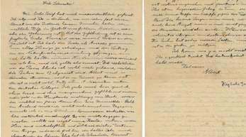 Ein Brief des Physikers Albert Einstein (1879-1955) an seine Schwester Maja.
