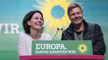 Annalena Baerbock und Robert Habeck von Bündnis 90/Die Grünen vergangene Woche in Leipzig.
