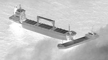 Die kollidierten Schiffe rund 25 Kilometer vor der Nordsee-Insel Borkum.