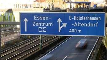 Von der Fahrverbotszone in Essen ist auch die Autobahn A40 betroffen.