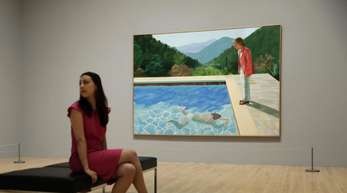 David Hockney, Portrait of an Artist (Pool with Two Figures), 1972.