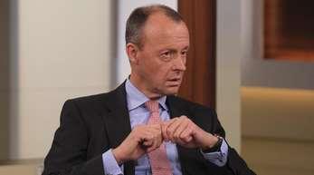 Friedrich Merz in der Sendung «Anne Will» zum Thema «Das gespaltene Land - wer sorgt für Zusammenhalt?».