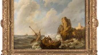 Das Gemälde «Seesturm» von Johannes Hermanus Koekkoek.