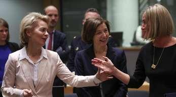 Ursula von der Leyen nahm am Treffen der Verteidigungsminister der Europäischen Union in Brüssel teil.