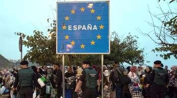Lage an der Grenze zwischen Spanien und Marokko.