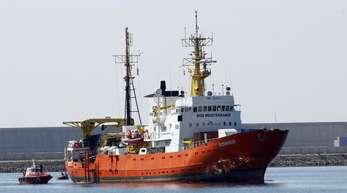 Die «Aquarius» war seit Februar 2016 im Einsatz und hat etwa 30.000 Migranten im Meer gerettet.