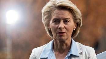 Verteidigungsministerin Ursula von der Leyen in Potsdam: Der Bundesrechnungshof hatte jüngst die Praxis ihres Ministeriums beim Einsatz von Beratern scharf kritisiert.
