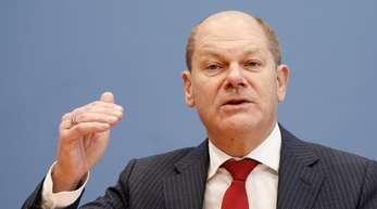 Bundesfinanzminister Olaf Scholz (SPD) bei einer Pressekonferenz zur geplanten Reform des Gesetzes zur Grundsteuer.