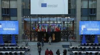 Pressezentrum des EU-Gipfels in Brüssel.