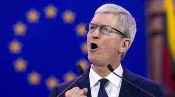 Apple-Chef Tim Cook spricht auf der 40. Internationalen Konferenz der Datenschutzbeauftragten im Europäischen Parlament.