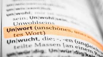 Das Wort «Unwort» ist in einem Wörterbuch markiert.