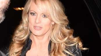 Die US-Pornodarstellerin Stormy Daniels (bürgerlich: Stephanie Clifford)vor einem Auftritt im Stripclub «Solid Gold».