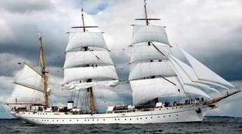 Die «Gorch Fock», Schulschiff der Marine, in der Kieler Förde.