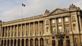 Blick auf das Hôtel de la Marine, ein Prachtbau mitten in Paris.