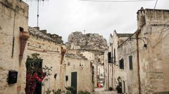 Verwinkelte Gassen in der Kulturhauptstadt Matera.