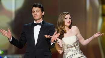 James Franco und Anne Hathaway, die Moderatoren der Oscar-Verleihung 2011.