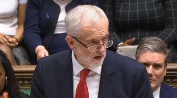 Labour-Chef Jeremy Corbyn vor der Abstimmung über die Brexit-Vereinbarung der Premierministerin.