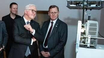 """Bundespräsident Frank-Walter Steinmeier bei der feierlichen Eröffnung von """"100 Jahre Bauhaus"""" in der Akademie der Künste in Berlin."""