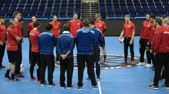 Vorbereitung auf Serbien: Das DHB-Team beim Training.