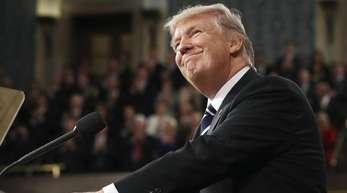 Er findet sich gut: US-Präsident Donald Trump ist am 20. Januar genau zwei Jahre im Amt.