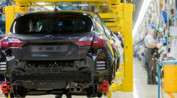 Produktion xdes Fiesta im Ford-Werk Köln.