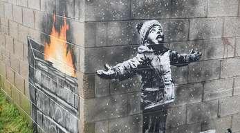Banksys Garagenwerk wird erst einmal an Ort und Stelle verbleiben.