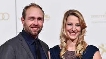 Julia und Robert Harting freuen sich auf ihre Zwillinge.