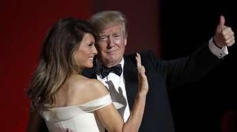 """Donald Trump und seine Frau Melania am Tag seiner Amtseinführung beim """"Liberty Ball""""."""