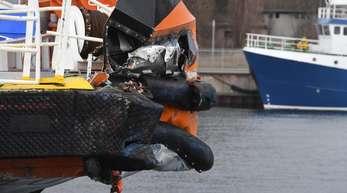Der Offshore-Versorger «World Bora» liegt nach dem Unfall im Stadthafen von Sassnitz.