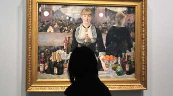 «Eine Bar im Folies-Bergere» von Edouard Manet in der Fondation Louis Vuitton in Paris.