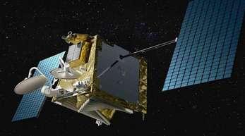 Eine Computergrafik eines OneWeb-Satelliten im Weltall. Das Neue an dem Projekt ist, dass die Satelliten auf eine niedrige Erdumlaufbahn von 1200 Kilometern gebracht werden sollen.