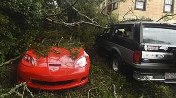 Auf seinem Weg ins Landesinnere der USA brachte Wirbelsturm «Florence» gewaltige Wassermassen und Sturm mit sich.