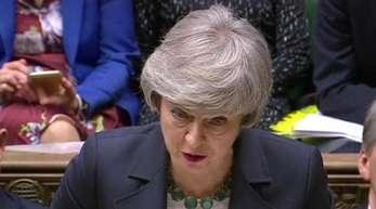 Theresa May im Unterhaus: Kommende Woche will die Premierministerin eine Erklärung abgeben. Einen Tag später stimmt das Unterhaus über die weiteren Schritte im Brexit-Prozess ab.