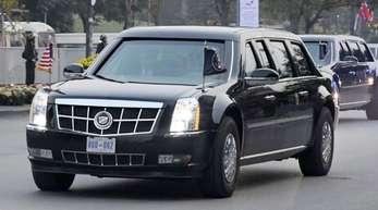 Auf dem Weg zu «Freund» Kim: Die Autokolonne von US-Präsident Donald Trump in Hanoi.