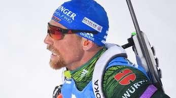 Erik Lesser und Verfolgungs-Weltmeisterin Denise Herrmann kämpfen bei der Single-Mixed-Staffel um eine Medaille.