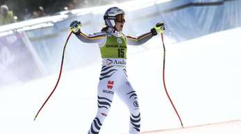 Viktoria Rebensburg gewann den Super-G in Andorra.