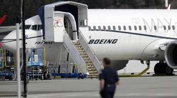 Eine Boeing 737 MAX 8 in Seattle.