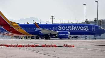 Flugzeuge des Typs Boeing 737 Max der Southwest Airlines auf dem Flughafen von Phoenix.
