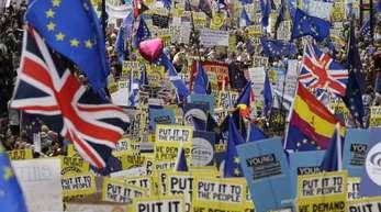 Brexit-Gegner demonstrieren in London.
