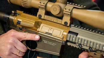 Ein Präzisionsgewehr vom Typ G28 des deutschen Waffen-Herstellers Heckler und Koch: Die Situation bei Heckler & Koch ist seit langem angespannt.