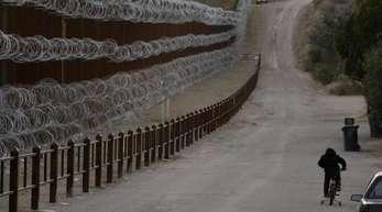 Grenzanlage zwischen den USA und Mexiko bei Nogales.