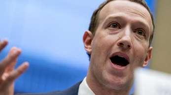 Facebook-Chef Mark Zuckerberg im April 2018 während einer Anhörung in Washington.