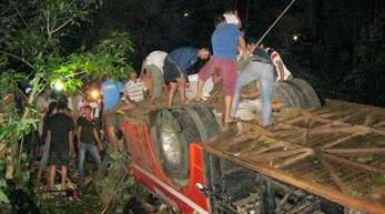 Mindestens 34 Menschen starben im Jahr 2012 in diesem vietnamesischen Reisebus.