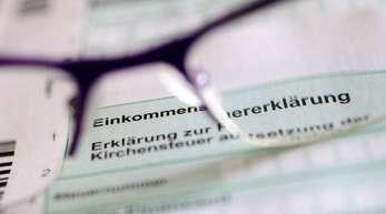 Der Schriftzug «Erklärung zur Kirchensteuer» auf einem Formular der Steuererklärung.