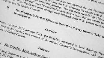 Der redigierte Bericht von Sonderermittler Mueller zur Russland-Affär.