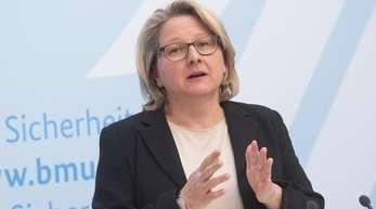 Bundesumweltministerin Svenja Schulze Anfang April in Berlin.