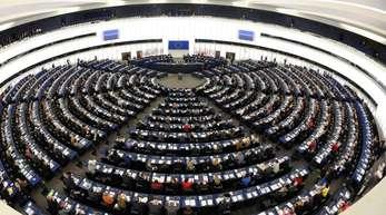 Blick in den Plenarsaal des Europaparlaments.