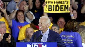 Joe Biden, ehemaliger Vizepräsident der USA und demokratischer Kandidat für die Präsidentschaftswahlen 2020, spricht auf einer Wahlkampfveranstaltung.