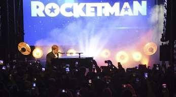 Elton John sorgt bei der «Rocketman»-Party für die Musik.
